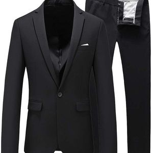 Other - 0237 Mens Slim Fit 2 Piece Single Breasted Jacket